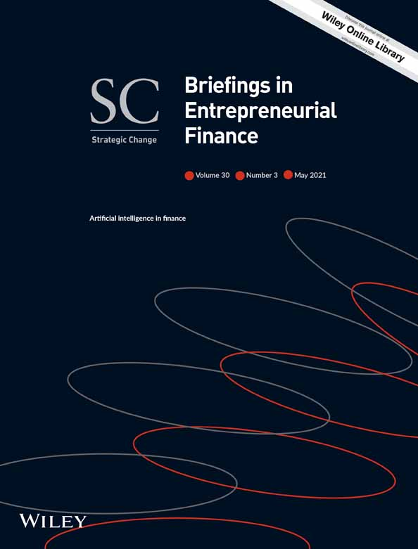 Strategic Change Briefings in Entrepreneurial Finance Paper Wiley Donata Petrelli Fabrizio Cesarini